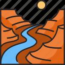 canyon, grand canyon, mountain, desert, arizona, landscape, national park