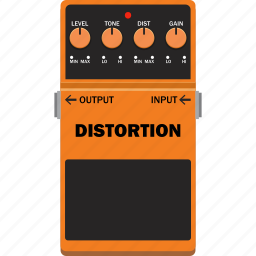 distortion, effect, guitar, pedal icon
