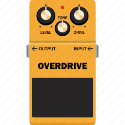 effect, guitar, overdrive, pedal icon