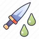 ability, game, knife, poison, skill, venom icon