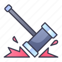 attack, game, hammer, hit, skill, swords, weapon icon