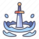 ability, attack, downward, game, skill, swords icon