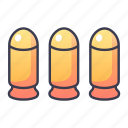 ability, ammunition, bullet, game, gun, skill, swords icon