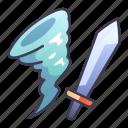 ability, game, magic, skill, storm, swords icon