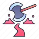ability, damage, game, ground, skill, slam, swords icon