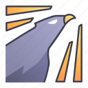 ability, falcon, game, skill, summon, swords icon