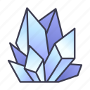 crystals, fantasy, freeze, game, ice, magic, spell icon