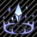 fantasy, game, ice, magic, spell, summon icon