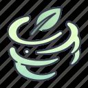 fantasy, game, leaf, magic, spell, wind icon