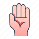 hand, ability, palm, gesture, game, rpg, skill icon