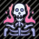 fantasy, horror, skeleton, skull, spirit, undead icon