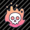 dark, death, evil, halloween, horror, skeleton, skull