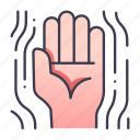 hand, palm, gesture, game, rpg, magic, skill icon