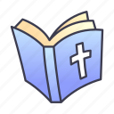 bible, book, church, god, holy, prayer, religion icon