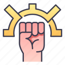 fantasy, fighter, fist, monk, rpg, warrior icon
