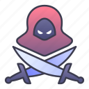 fantasy, classes, assassin, game, blade, rpg icon