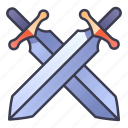 fantasy, knight, medieval, rpg, sword, warrior, weapon icon