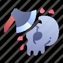 ability, axe, break, game, skill, skull, swords icon