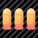 ammunition, bullet, game, gun, military, skill, swords icon