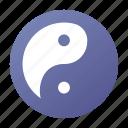 balance, buddhism, harmony, monk, yang, yin, zen icon