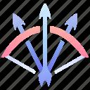 archer, arrow, bow, elf, ranger, rpg, weapon icon