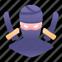 game, katana, ninja, rpg, sword, warrior, weapon icon