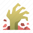 dead, grave, hand, horror, rising, undead, zombie icon
