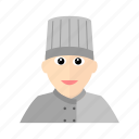 chef, cook, hat, kitchen, male, restaurant icon