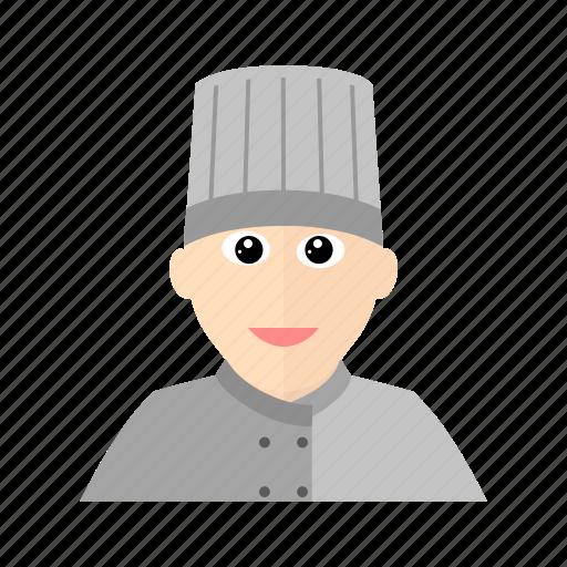 chef, cook, hat, kitchen, male, restaurant icon