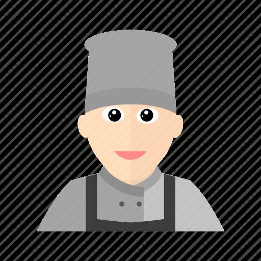 apron, chef, cook, hat, kitchen, male, restaurant icon