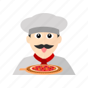 chef, cook, italian, kitchen, pizza, restaurant