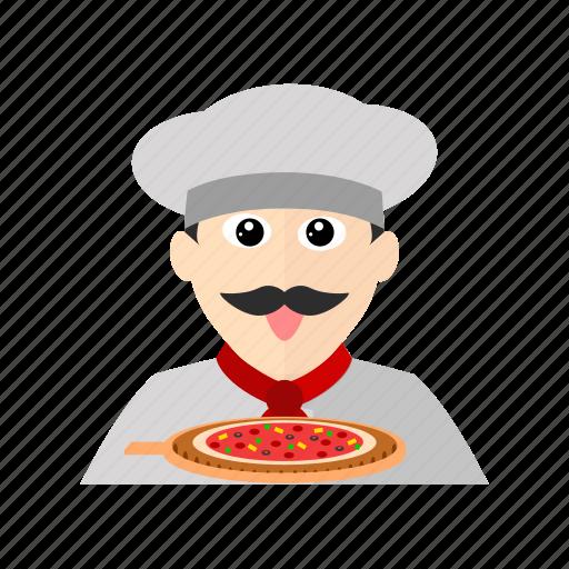 Chef, cook, italian, kitchen, pizza, restaurant icon - Download on Iconfinder