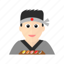 art, asian, chef, cook, japanese, sashimi, sushi icon