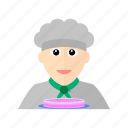 cake, chef, dessert, kitchen, male, pastry, pie icon