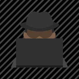 black hat, computer, cracker, hacker, information, it icon