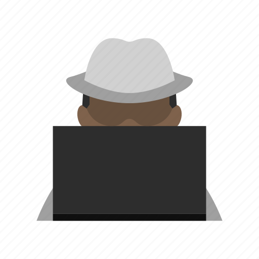 computer, education, hacker, information, laptop, programmer, white hat icon