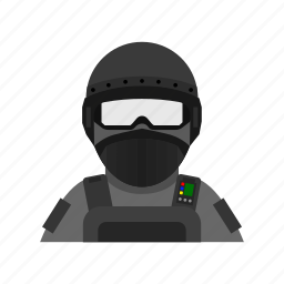 force, mask, military, protect, rescue, special, unit icon