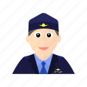 air, airplane, flight, force, male, officer, plane icon