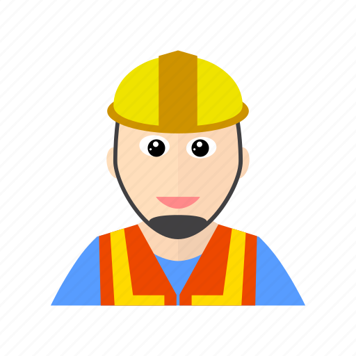 construction, hat, safety, worker icon