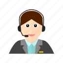 communication, customer, female, mike, service icon