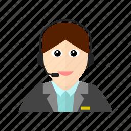 communication, customer, female, mike, service icon