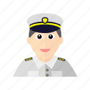 avatar, male, navy, officer, uniform icon