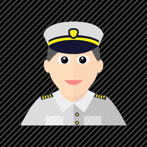 avatar, male, navy, officer, uniform icon
