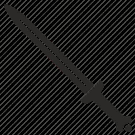 blade, long, roman, sword, weapon icon