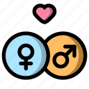 couple, gender, relationship, valentine icon