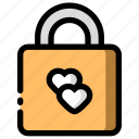 couple, padlock, relationship, romance
