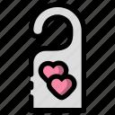 couple, honeymoon, prohibited, room icon