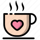 cup, heart, love, valentine icon