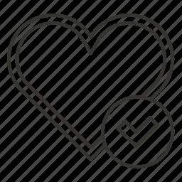 done, heart, like, love, romance, taken, valentine icon