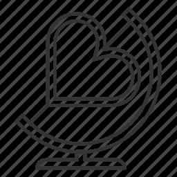 globe, heart, love, mirror, romance, valentine icon